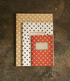 Around by O-Check Notebook - Medium Black Dot | NoteMaker - Australia's Leading Online Stationery Shop