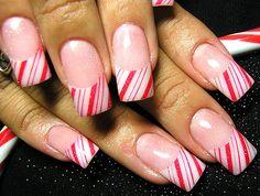 Christmas fingernails