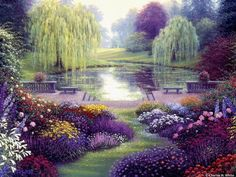 nature beauty, dream places, secret gardens, heaven, weeping willow, peaceful places, beauti, mother nature, peaceful garden