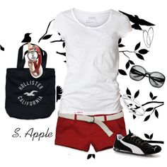 """""""Black, White and Red"""" by sapple324 on Polyvore"""
