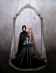 Snape's view in Mirror of Erised - So sad!