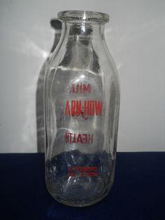 Fitchburg MA Milk Bottle