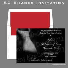 50 Shades of Grey Party Invitation. $20.00, via Etsy.