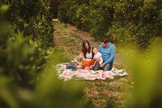 fun orange grove family session