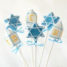 Hanukkah Cake Pops (Sweet Lauren Cakes).