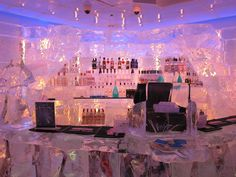 Minus 5 Ice Lounge, Las Vegas. Everything is made out of ice even your drinking glasses.