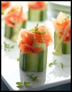 Smoked Salmon Cucumber Cups