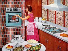 Retro housewife & Kitchen