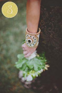indian wedding gold green bracelet via IndianWeddingSite.com