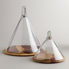 I'm LOVING the Conical Cloche -- perfect piece to use for styling your shelves, a buffet, a coffee table--Air plants look lovely inside them, too! (Spruce Up Your Space with a 5K #WorldMarketMakeover www.worldmarket.com/sweepstakes)