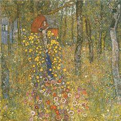 Farm Garden with Crucifix - Gustav Klimt