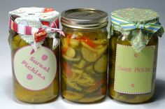 Homemade Sweet Pickles!  Easy recipe at cathiefilian.blog...  #pickles #homemade #recipe #make #jar #canning