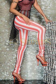 Colanti Mexton Fashion Stripes Coral