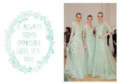 mint green wedding details