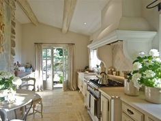 simple french style kitchen