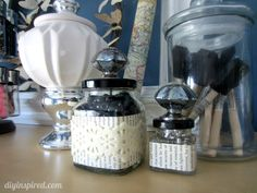 Recycled Craft Jars from ketchup bottles.