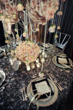 pink roses, idea, wedding receptions, centerpiec, dream, weddings, pearls, table designs, bride groom