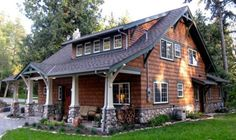 art crafts, rustic houses exterior, rustic exterior house, cabin front porches, log cabin exterior, dormer, dream houses, log siding, craftsman bungalows