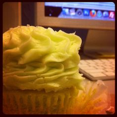 Sometimes our owner surprises with cupcakes. Oh happy day!