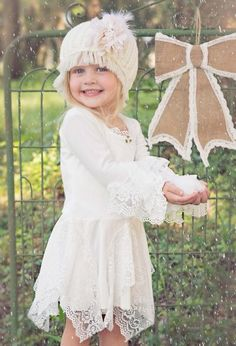 Dollcake Shades of White Dress 3 to 8 Years Now in Stock