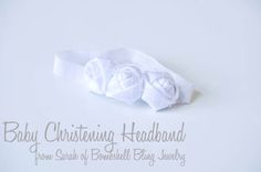 Baby Christening Headband from Craft Quickies
