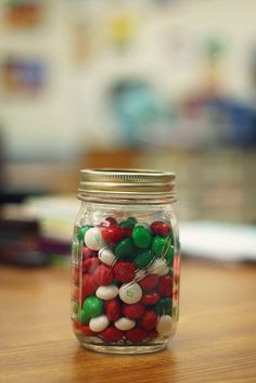 Estimation jars.  I need to be better about doing this more often with the kiddos.
