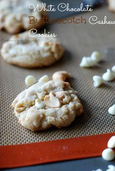 White Chocolate Butterscotch Cashew Cookies