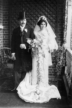 Very Edwardian wedding day photo
