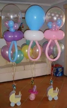 Balloon Baby Shower Parties, Decorations on Pinterest