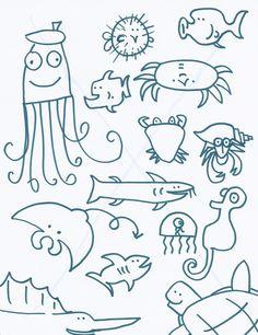 sea creatures, ocean creatur, artist, kid bathrooms