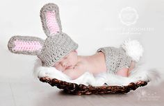 Little Bunny Outfit by CBCrochetedCreations on Etsy, $44.95