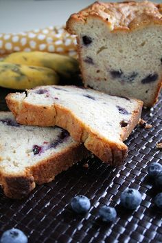 Blueberry Banana Bread with Cream Cheese - SO easy!