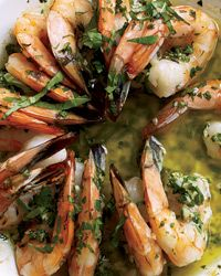 Chardonnay: For hearty fish or fish in a rich sauce    Silky whites—for instance, Chardonnays from California, Chile or Australia—are delicious with fish like salmon or any kind of seafood in a lush sauce. Try Sizzling Shrimp Scampi (recipe here)