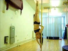 revers, poledanc, pole tricks, aysha leg, leg trap