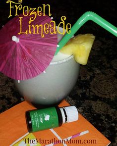 frozen coconut limeade #oilyfamilies #summerrecipes