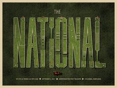 The National poster by DKNG