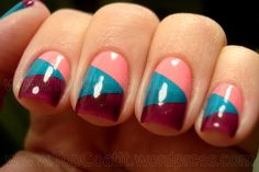 Color Blocking:  I see a manicure session in my future !!