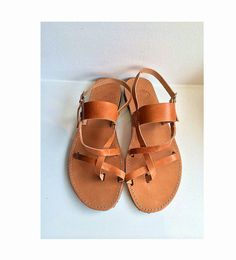 Leather Sandals with straps handmade shoes by SANDALIANAS on Etsy, $42.00