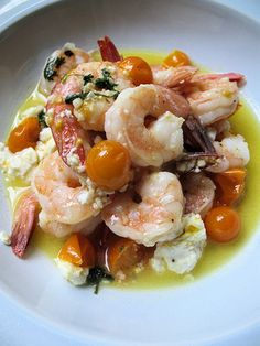 Shrimp with Feta and Lemon Butter Sauce