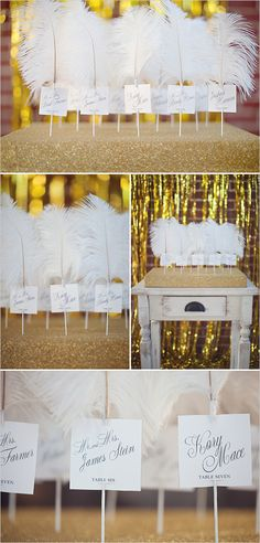 feather table numbers