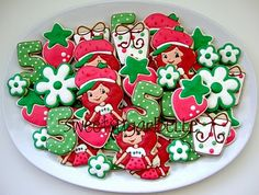 Sweet Strawberry Shortcake cookie designs