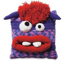 craft, free pattern, craigredl, pillow crochet, monsters, crochet monster, diy, pillows, monster pillow