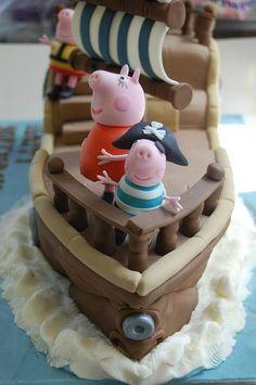 we love this peppa pig cake