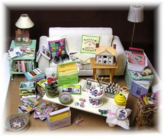DYI DOLLHOUSE MINIATURES - several patterns, lots of photos, not just for this one but for several projects