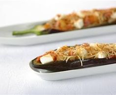 Berenjenas rellenas con queso de Burgos