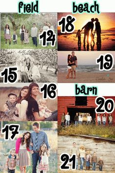 101 Tips and Ideas for Family Pictures! TONS of inspiration in this one!!