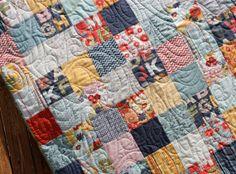 Made To Order - Red Navy Blue Alphabet Baby Quilt PB & J Handmade Unisex Nursery Bedding on Etsy, $155.00