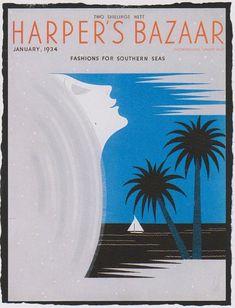Harper's Bazaar (January 1934)  Artwork by Erte.