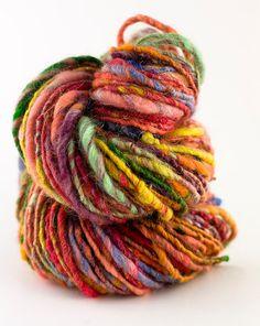 pli handspun, yarns, singl pli, art yarn, handspun knit, knit yarn, tibetan red