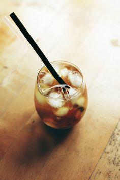 Refridgerator brewed iced tea.